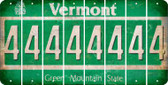 Vermont 4 Cut License Plate Strips (Set of 8) LPS-VT1-031