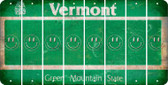 Vermont SMILEY FACE Cut License Plate Strips (Set of 8) LPS-VT1-089