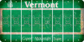 Vermont SKULL Cut License Plate Strips (Set of 8) LPS-VT1-092