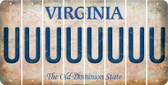 Virginia U Cut License Plate Strips (Set of 8) LPS-VA1-021