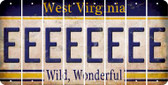 West Virginia E Cut License Plate Strips (Set of 8) LPS-WV1-005