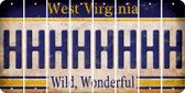 West Virginia H Cut License Plate Strips (Set of 8) LPS-WV1-008