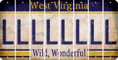 West Virginia L Cut License Plate Strips (Set of 8) LPS-WV1-012