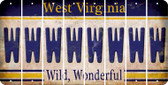West Virginia W Cut License Plate Strips (Set of 8) LPS-WV1-023