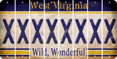 West Virginia X Cut License Plate Strips (Set of 8) LPS-WV1-024