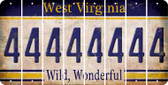 West Virginia 4 Cut License Plate Strips (Set of 8) LPS-WV1-031