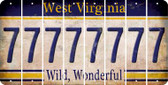 West Virginia 7 Cut License Plate Strips (Set of 8) LPS-WV1-034