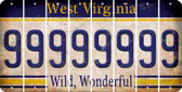West Virginia 9 Cut License Plate Strips (Set of 8) LPS-WV1-036