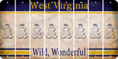 West Virginia BABY GIRL Cut License Plate Strips (Set of 8) LPS-WV1-067