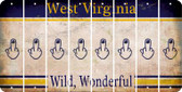 West Virginia MIDDLE FINGER Cut License Plate Strips (Set of 8) LPS-WV1-091