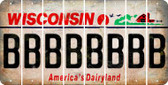 Wisconsin B Cut License Plate Strips (Set of 8) LPS-WI1-002