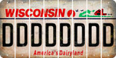 Wisconsin D Cut License Plate Strips (Set of 8) LPS-WI1-004