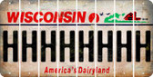 Wisconsin H Cut License Plate Strips (Set of 8) LPS-WI1-008