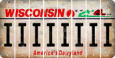Wisconsin I Cut License Plate Strips (Set of 8) LPS-WI1-009