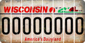 Wisconsin O Cut License Plate Strips (Set of 8) LPS-WI1-015