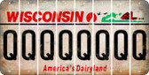 Wisconsin Q Cut License Plate Strips (Set of 8) LPS-WI1-017