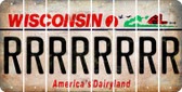 Wisconsin R Cut License Plate Strips (Set of 8) LPS-WI1-018