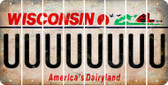 Wisconsin U Cut License Plate Strips (Set of 8) LPS-WI1-021