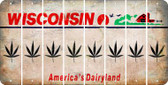 Wisconsin POT LEAF Cut License Plate Strips (Set of 8) LPS-WI1-090