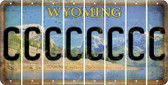 Wyoming C Cut License Plate Strips (Set of 8) LPS-WY1-003