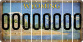 Wyoming O Cut License Plate Strips (Set of 8) LPS-WY1-015