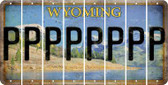 Wyoming P Cut License Plate Strips (Set of 8) LPS-WY1-016