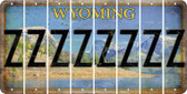 Wyoming Z Cut License Plate Strips (Set of 8) LPS-WY1-026