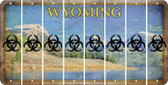 Wyoming BIO HAZARD Cut License Plate Strips (Set of 8) LPS-WY1-084