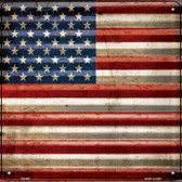 American Flag Wholesale Novelty Square Sign SQ-407