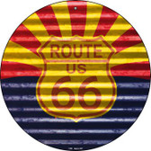 Route 66 Arizona Flag Wholesale Novelty Circular Sign C-896