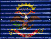 North Dakota Flag Wholesale Novelty Parking Sign P-2348