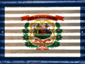 West Virginia Flag Wholesale Novelty Parking Sign P-2362