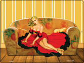 Girl On Couch Vintage Pinup Wholesale Parking Sign P-1827