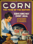 Corn Food of the Nation Vintage Poster Wholesale Parking Sign P-1838