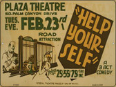 Plaza Theatre Vintage Poster Wholesale Parking Sign P-1918