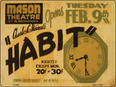 Habit Mason Theatre Vintage Poster Wholesale Parking Sign P-1920