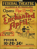 Enchanted April Vintage Poster Wholesale Parking Sign P-1923