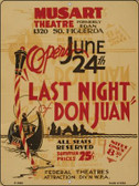 Last Night Don Juan Vintage Poster Wholesale Parking Sign P-1930