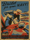 Build Your Navy Vintage Poster Wholesale Parking Sign P-1937