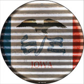Indiana Flag Corrugated Effect Wholesale Novelty Circular Sign C-925