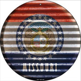 Missouri Flag Corrugated Effect Wholesale Novelty Circular Sign C-935