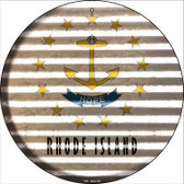 Rhode Island Flag Corrugated Effect Wholesale Novelty Circular Sign C-949