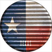 Texas Flag Corrugated Effect Wholesale Novelty Circular Sign C-953
