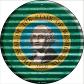 Washington Flag Corrugated Effect Wholesale Novelty Circular Sign C-957