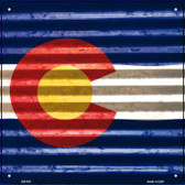 Colorado Flag Corrugated Effect Wholesale Novelty Square Sign SQ-430