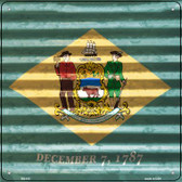 Delaware Flag Corrugated Effect Wholesale Novelty Square Sign SQ-432