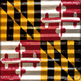 Maryland Flag Corrugated Effect Wholesale Novelty Square Sign SQ-444