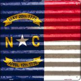 North Carolina Flag Corrugated Effect Wholesale Novelty Square Sign SQ-457