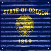 Oregon Flag Corrugated Effect Wholesale Novelty Square Sign SQ-461
