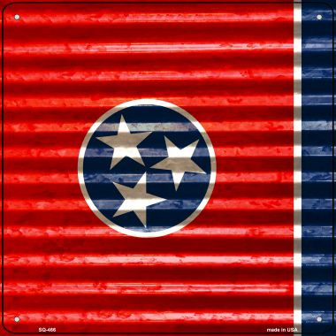 Tennessee Flag Corrugated Effect Wholesale Novelty Square Sign SQ-466